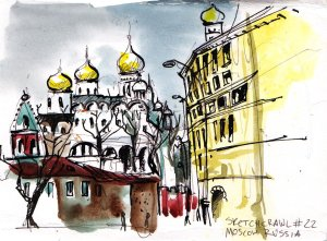 Moscow scene from Urban Sketchers website