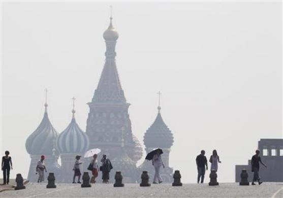 A smoky Red Square