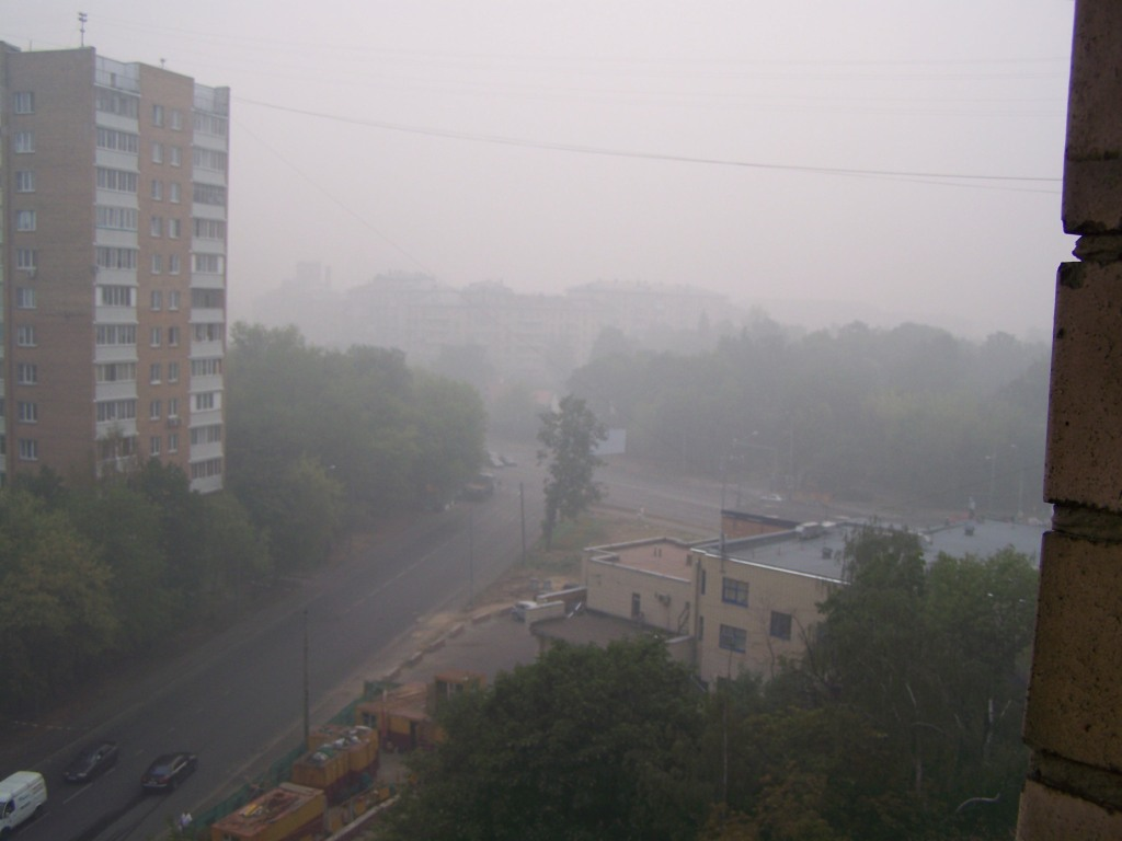 smog in the street - Moscow was like a ghost town this weekend!